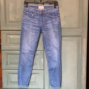 Current Elliot Distressed Skinny Jeans
